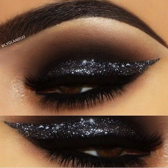 Have You Fallen In Love With The Idea Of Using Black Glitter But Youd Rather Get A Little More Avant Garde It Than Just Smearing All Over Your
