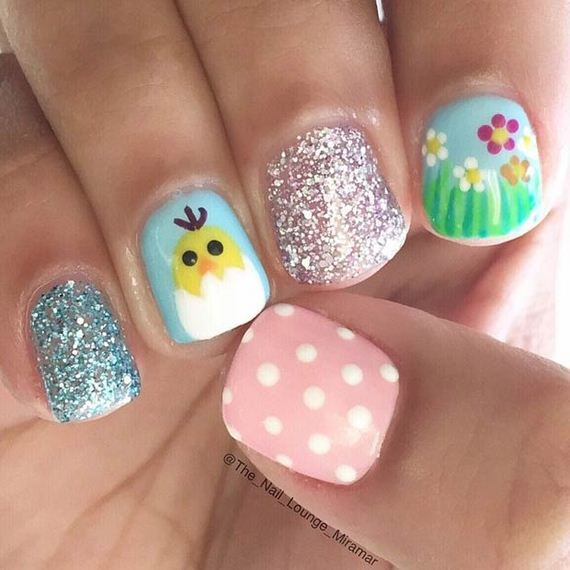 122 Nail Art Designs That You Won T Find On Google Images: Cool Easter Nail Art Designs