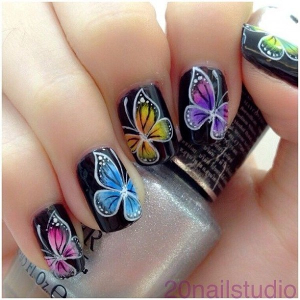 12 Amazing Diy Nail Art Designs: Amazing DIY Butterfly Nail Art Ideas